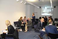 Gutgelaunte Runde beim Präsentationstraining mit Regie und Ritual und der IHK Bonn/Rhein-Sieg