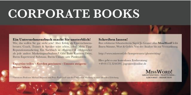 Unternehmensbuch/Corporate Book als leistungsstarkes Marketingtool