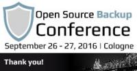Rückblick zur Open Source Backup Conference 2016