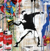 Mr. Brainwash: Banksy Thrower (2017) / Galerie Fluegel-Roncak