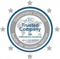 Die Unternehmer Academy ist nun Trusted Company im Diplomatic Council