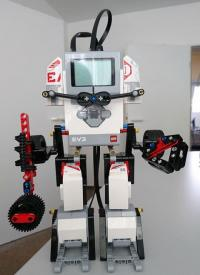 Lego-Mindstorm-Roboter am SemVox DMEXCO Stand