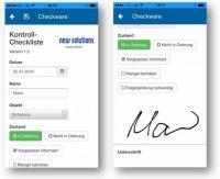 Digitale Checklisten mit der Checkware App für Android, Apple iOS und Windows 10