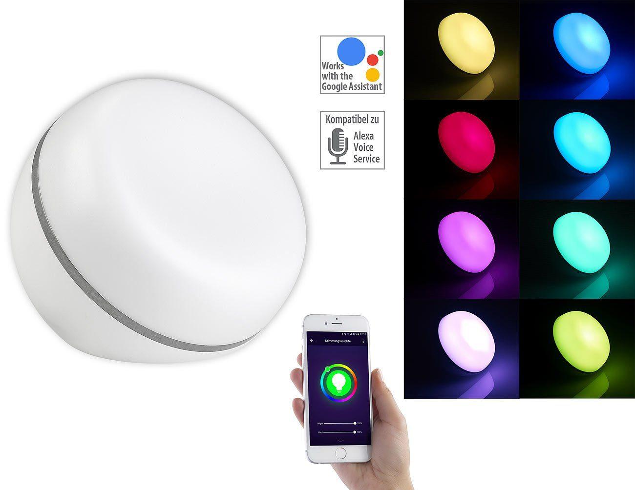 Luminea Home Control WLAN-LED-Stimmungsleuchte