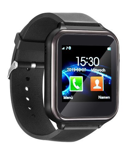 simvalley MOBILE 2in1-Handy-Uhr PW-455 & Smartwatch für Android