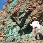 Kupfervererzung auf Santo Tomas; Foto: Oroco Resource