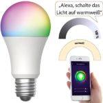 Luminea Home Control WLAN-LED-Lampe LAV-170.rgbw für Amazon Alexa und Google Assistant