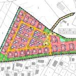 """Bebauungsplan des Neubaugebiets """"Am Bergle"""" in Schlier-Unterankenreute (Bildquelle: © KIENZLE VÖGELE BLASBERG)"""