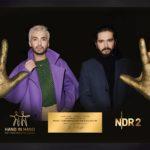 Die Handabdrücke der Kaulitz-Brüder _ Verwendung honorarfrei (c)NDR 2