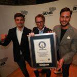 Thilo Schneider und Juryteam beim Weltrekord im Business Pitchen