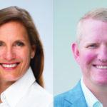 Katja Nick (Konica Minolta) und Scott Erickson (M-Files) freuen sich über den Ausbau der Zusammenarb