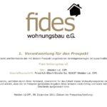 fides Wohnungsbau eG Prospekt 2011