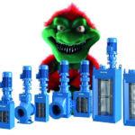 Die Muffin Monster-Doppelwellenzerkleinerer lassen sich in 8 Ausführungen an die individuellen Anforderungen jeder Anlage anpassen
