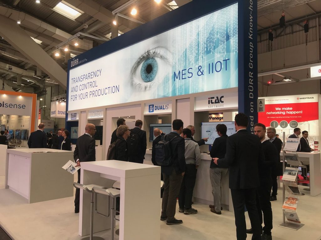 iTAC-Messestand HANNOVER MESSE 2019