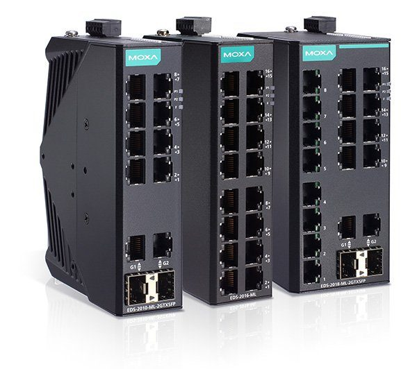 Moxa-EDS-2018-2016-2010-ML-Unmanaged-Ethernet-Switches (Bildquelle: @Moxa Inc.)