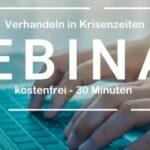 Kostenfreies LIVE Webinar: Verhandeln in Krisenzeiten