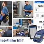 Intelligenter, kleiner und robuster Etikettendrucker BradyPrinter M611