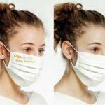 Maske mit Ihrem Firmenlogo oder Lebensmotto!