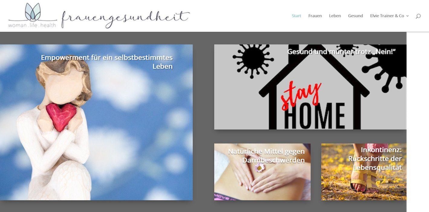 Screenshot Website frauengesundheit.life