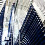 STOPA Blechlager – mehr Lagerkapazität auf zwei Gebäudeebenen