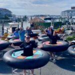 """Pfiffige Idee für Restaurants: """"Bumper Tables"""" sorgen in Maryland für Distanz mit Fun-Faktor"""