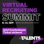 Virtual Recruiting Summit September: Live und kostenlos!