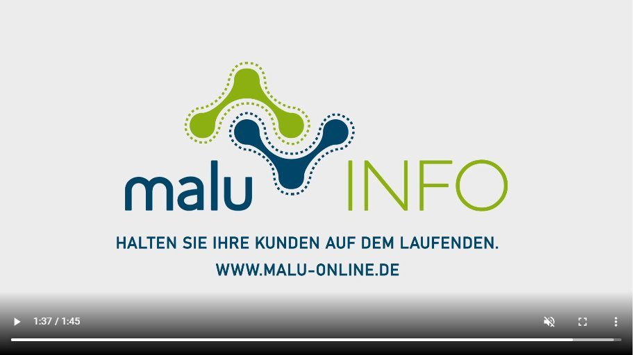 Screenshot malu INFO Informationsvideo (Bildquelle: @ Olaf Glowacz)